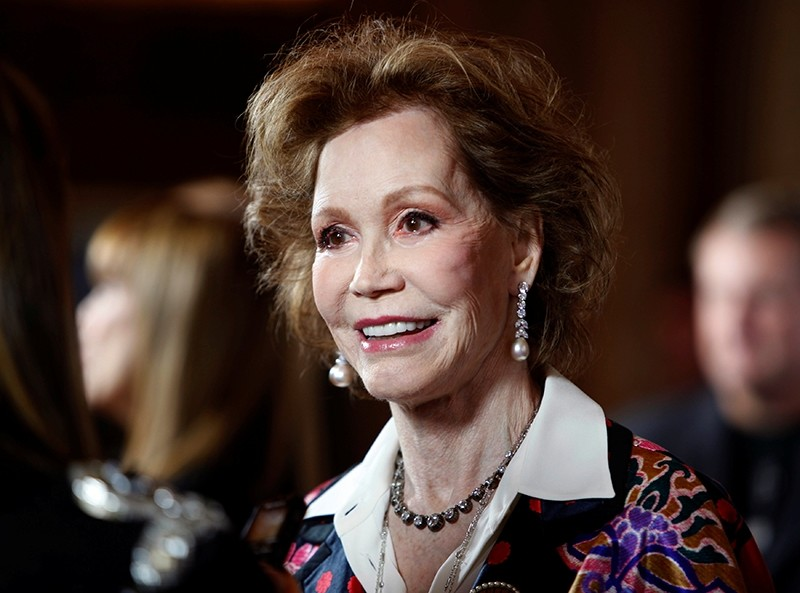Actress Mary Tyler Moore arrives for the taping of ,Betty White's 90th Birthday: A Tribute to America's Golden Girl, in Los Angeles January 8, 2012 (Reuters Photo)