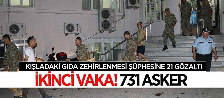 Manisada yemekten zehirlenen 731 asker tedavi altına alındı