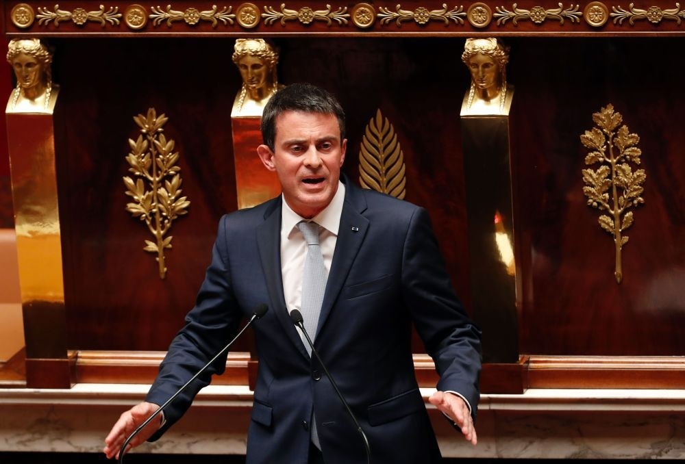 French Prime Minister Valls speaks during a debate aiming at extending the countryu2019s state of emergency for a fourth time at the French National Assembly in Paris on July 19.