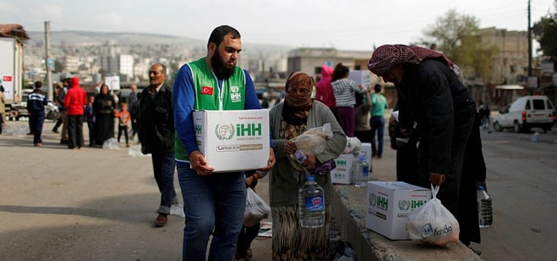 TURKEY SENT 2,200 TRUCKLOADS OF AID TO SYRIA IN 2018
