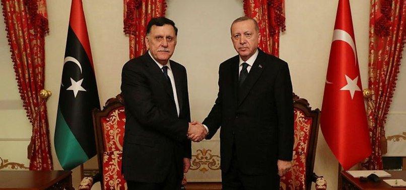 TURKISH PRESIDENT ERDOĞAN MEETS LIBYAN PM SARRAJ IN ISTANBUL