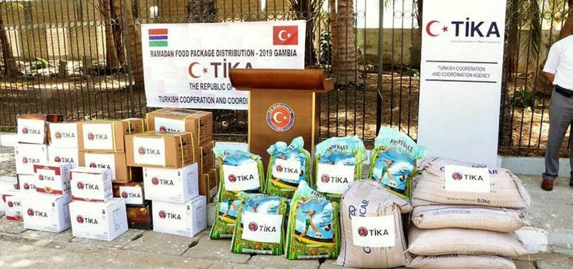 TURKISH AID AGENCY TIKA DISTRIBUTES FOOD PACKAGES IN GAMBIA