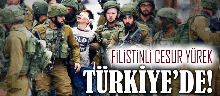Filistinli cesur yürek Türkiye'de!