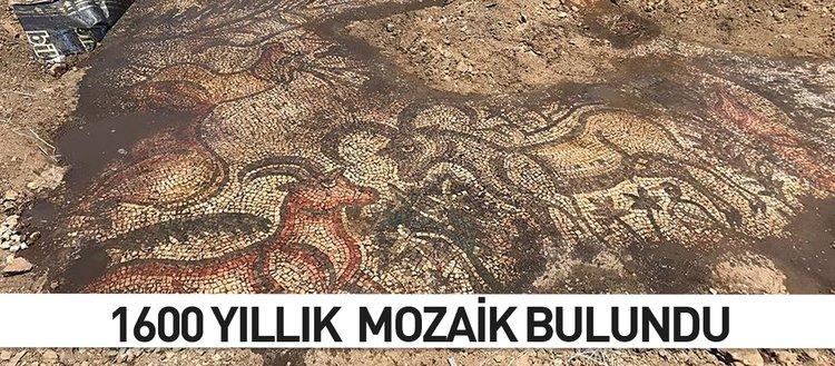 1600 yıllık mozaik bulundu