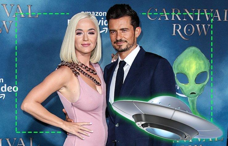 """Şarkıcı Katy Perry, Orlando Bloom ile birlikteliği hakkında """"Bizi mistisizm, komplolar ve uzaylılar bağlıyor"""" dedi."""