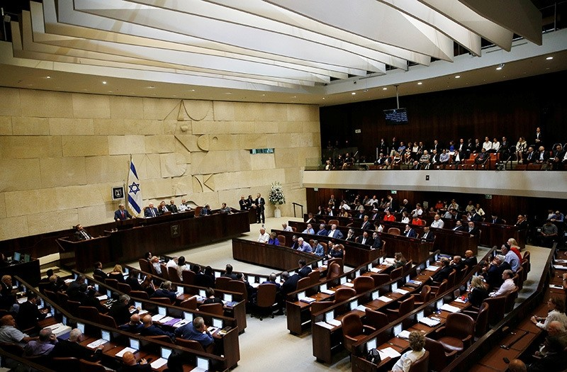 A general view shows the plenum as Israel's Prime Minister Benjamin Netanyahu speaks at the opening of the winter session of the Knesset, the Israeli parliament, in Jerusalem, Oct. 31, 2016. (Reuters Photo)