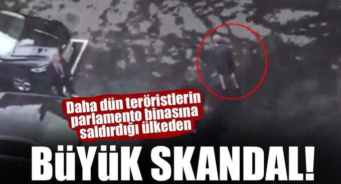 Daha dün teröristlerin parlamento binasına saldırdığı ülkeden büyük skandal!