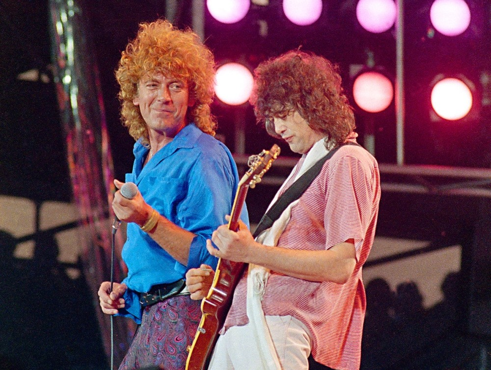 Singer Robert Plant, left, and guitarist Jimmy Page