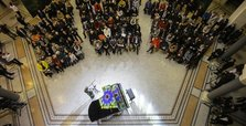 Bosnian students try Guinness world record piano feat