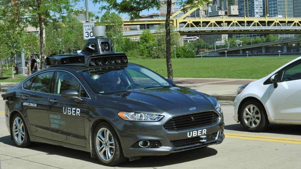 A self-driving car being tested in Pittsburgh, Pennsylvania.