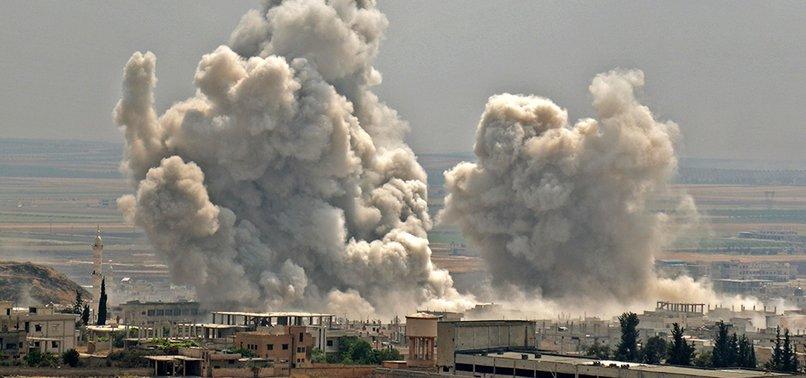 RUSSIAN AIRSTRIKES KILL 5 CIVILIANS IN SYRIAS IDLIB