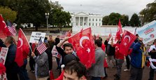 Supporters of Turkey's Syria op rally at White House