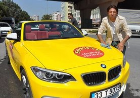 Cabrio otomobili taksi yaptı!