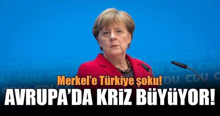 Merkel'e Türkiye şoku!