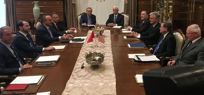 TURKEY TO END CROSS-BORDER OFFENSIVE IN NORTHEASTERN SYRIA ONLY AFTER YPG LEAVES - FM ÇAVUŞOĞLU