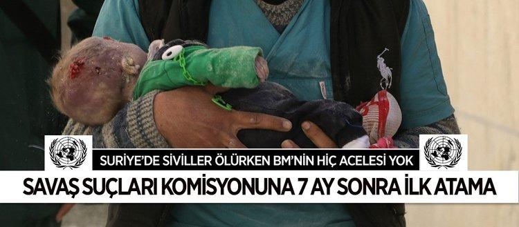 BM'den Suriye'deki savaş suçları komisyonu başkanlığına atama
