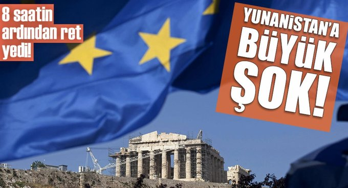 Yunanistan ABden ret yedi!