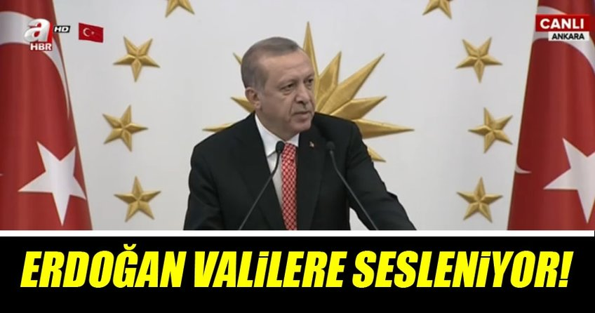 Cumhurbaşkanı Erdoğan Valilere seslendi