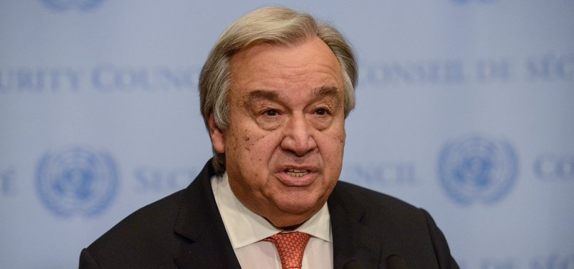 UN CHIEF SAYS CORONAVIRUS OUTBREAK IS THREATENING WHOLE OF HUMANITY