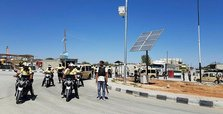 Streets in norhern Syria's liberated region lit by solar lights