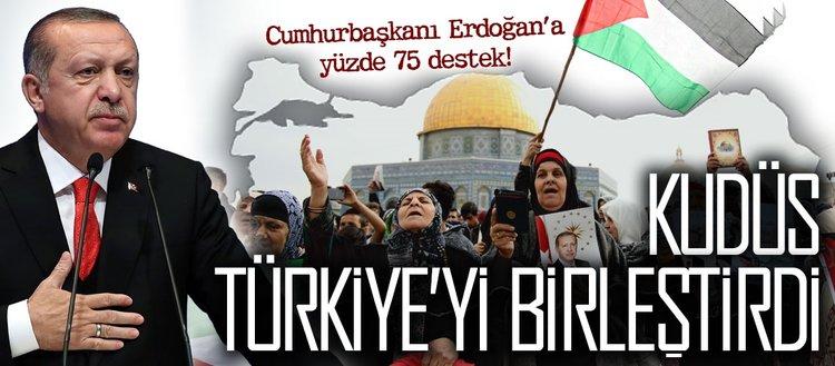 Cumhurbaşkanı Erdoğan'a yüzde 75 destek!