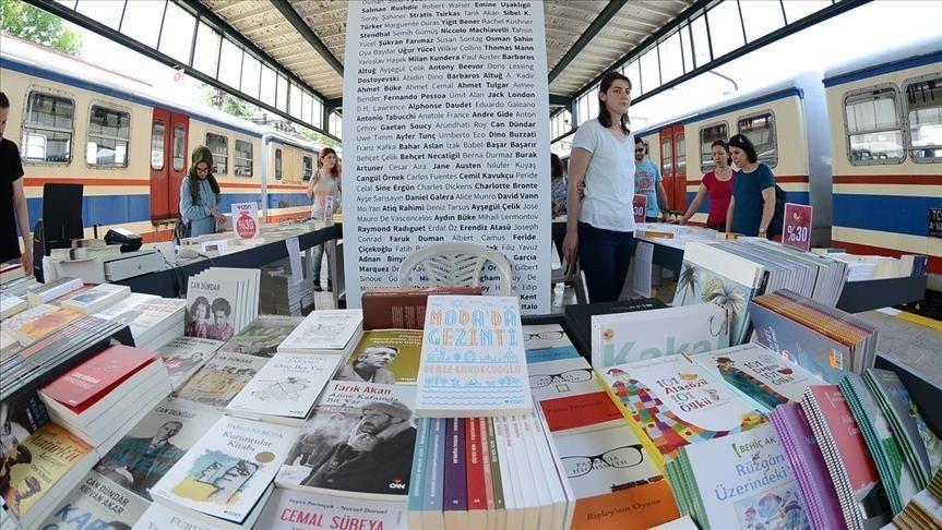 Book fair at Istanbul's historic Haydarpau015fa Train Station (AA Photo)