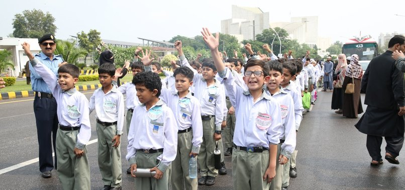 PAKISTANI CHILDREN PROTEST IN SOLIDARITY WITH KASHMIR