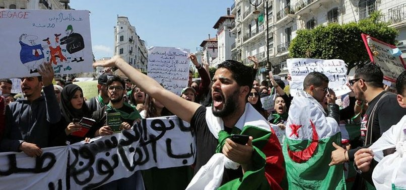 ALGERIANS PROTEST FOR NINTH CONSECUTIVE FRIDAY