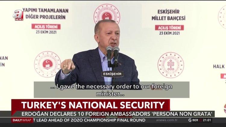 Erdoğan orders 10 ambassadors declared 'persona non grata' over Kavala remarks