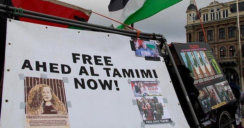 Hollandada Filistinli Temimiye destek gösterisi