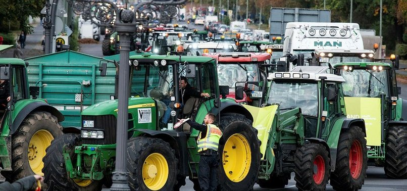 THOUSANDS OF FARMERS PROTEST ACROSS GERMANY