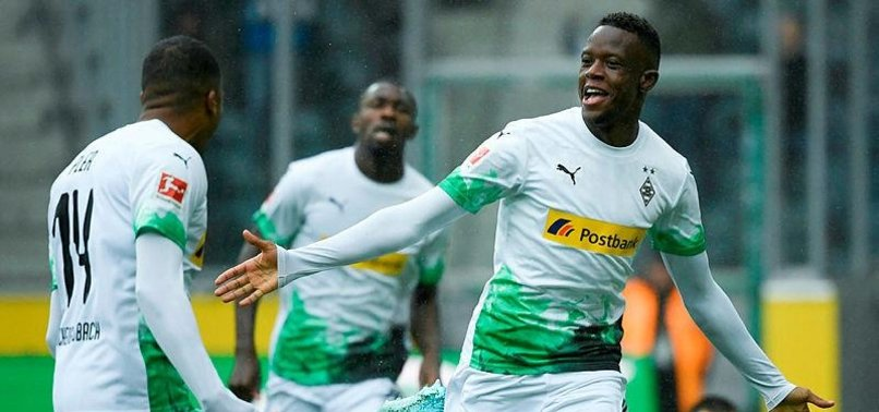 GLADBACH FIRE FIVE GOALS PAST AUGSBURG TO GO TOP