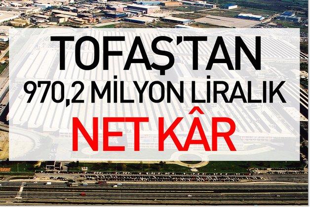 Tofaş'tan 970,2 milyon liralık net kâr