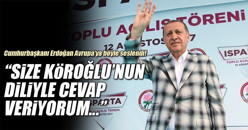 Cumhurbaşkanı Erdoğan Isparta'da toplu açılış töreninde konuştu!