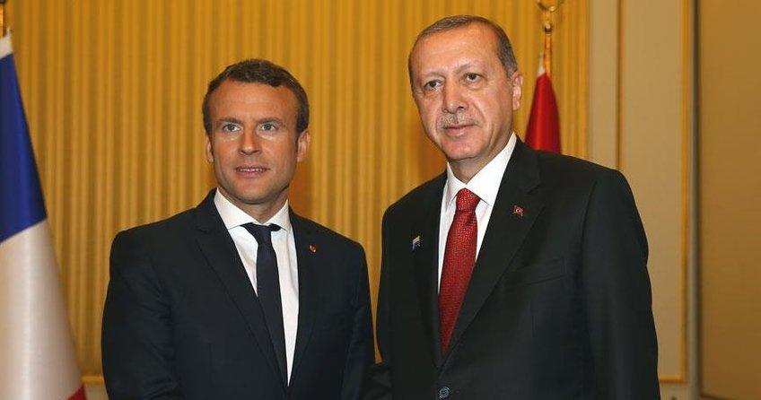 Cumhurbaşkanı Erdoğan ile Macron Afrini görüştü