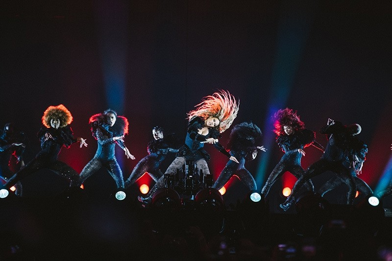 Beyonce performs during the Formation World Tour at Telia Parken on Sunday, July 24, 2016 in Copenhagen, Denmark. (Invision for Parkwood Entertainment/AP Photo)
