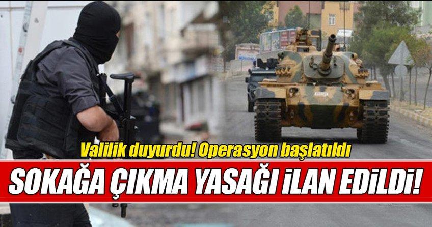 Muş'ta 21 mahallede sokağa çıkma yasağı ilan edildi