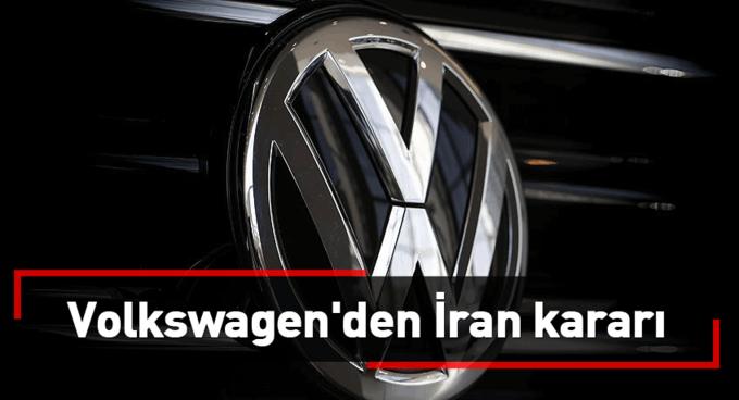 Volkswagenden İran kararı