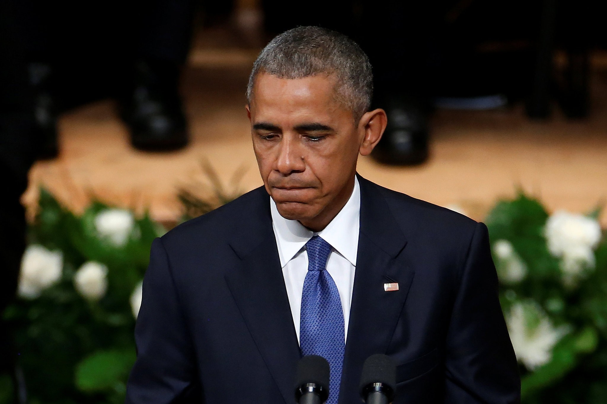 U.S. President Barack Obama speaks during a memorial service following the multiple police shootings in Dallas, Texas, U.S., July 12, 2016. (REUTERS Photo)