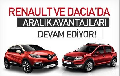 Renault ve Dacia'da Aralık avantajları devam ediyor!