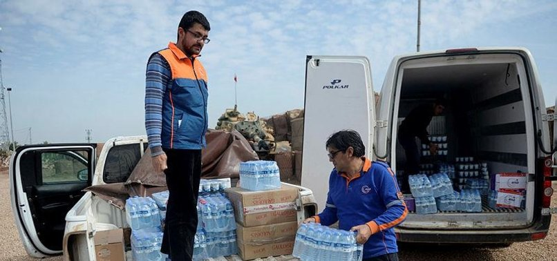 TURKEY SENDS AID TO SYRIAN VILLAGES CLEARED OF TERROR