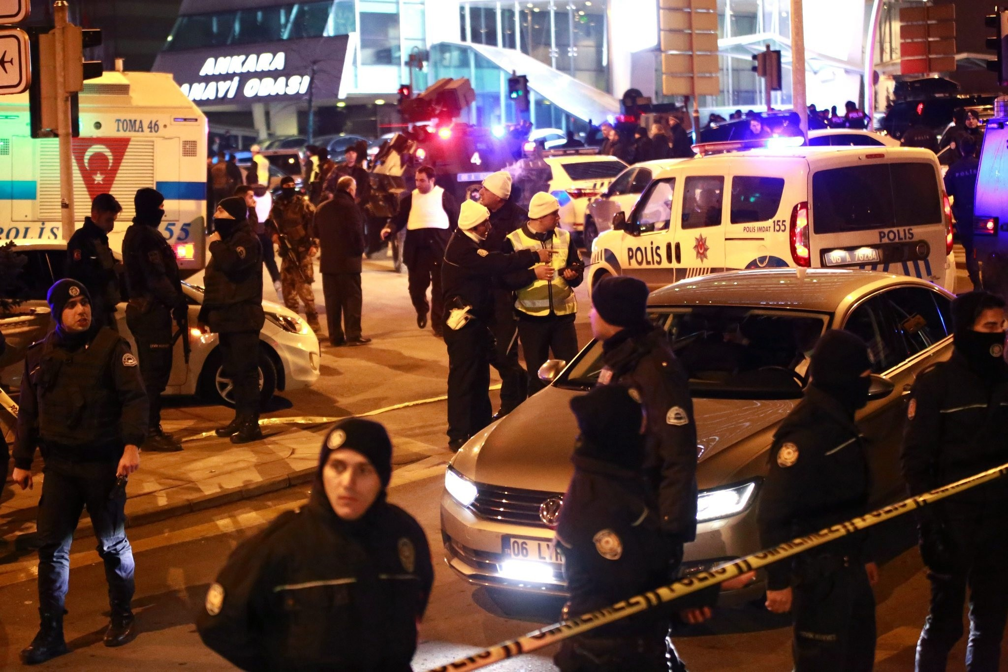 urkish police secure the area after Russia's ambassador to Turkey, Andrey Karlov has been shot, in Ankara, Turkey, 19 December 2016. (EPA Photo)