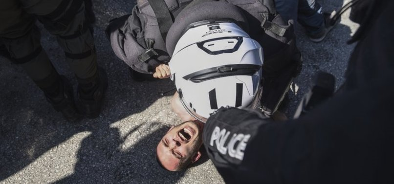 PROTESTS HELD OVER CAMPUS SECURITY LAW IN GREECE