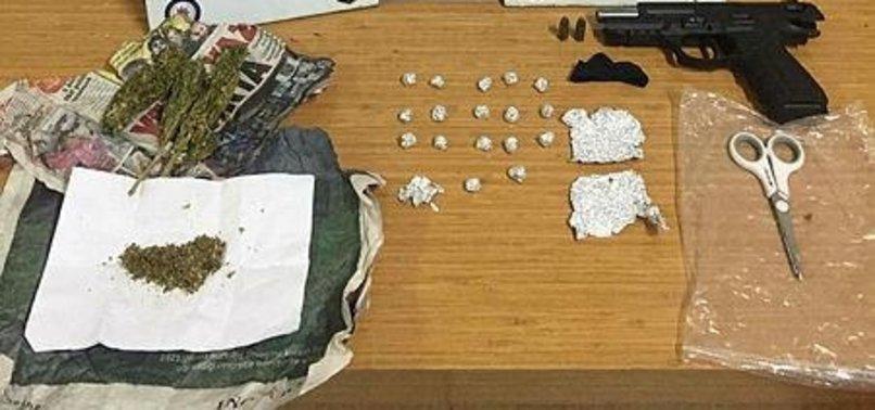 TURKISH POLICE ARREST 3 PKK SUSPECTS IN ANTI-DRUG RAIDS