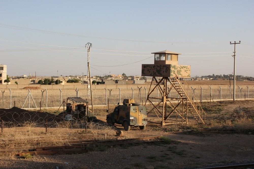 A border outpost in the province of u015eanlu0131urfa manned by soldiers. Gu00fclenists are accused of stalling the efforts to improve the security on country's Syrian and Iraqi borders.
