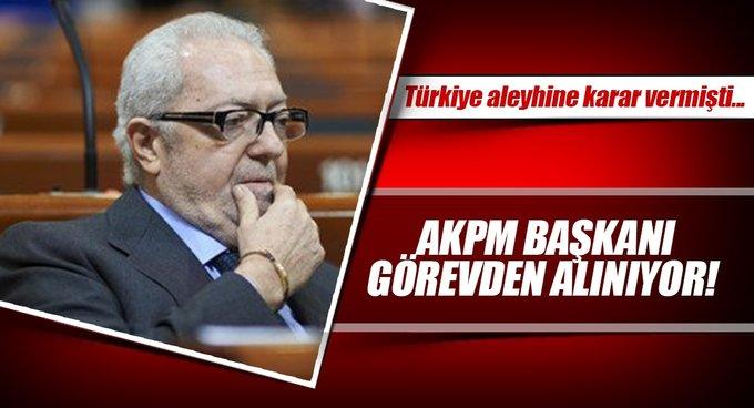AKPM Başkanının görevden alınması için işlem başlatıldı