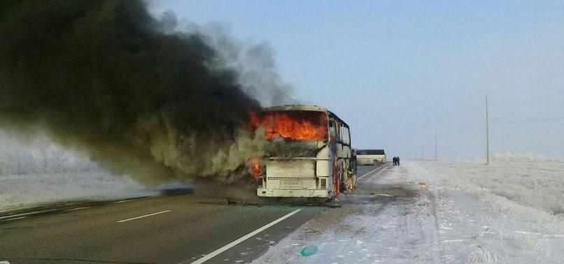 BUS FIRE IN KAZAKHSTAN LEAVES AT LEAST 52 PEOPLE DEAD