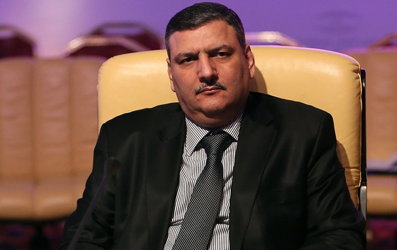 Chief Negotiator of the Syrian Opposition Riyad Hijab attends a meeting in the Qatari capital Doha late on November 11, 2012. (AFP Photo)