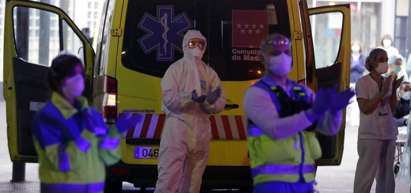 SPAIN'S CORONAVIRUS DEATH TOLL RISES BY 838 OVERNIGHT TO 6,528