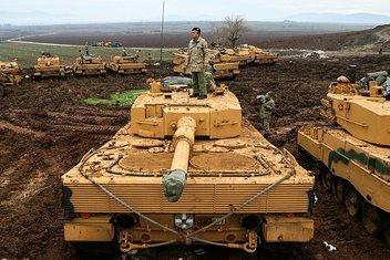 Fotoğraflarla Afrinde gerçekleştirilen Zeytin Dalı Operasyonu